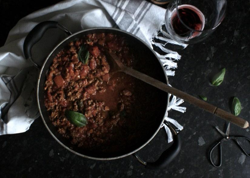 Ragu sauce for lasagne