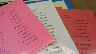 fluency fry phrases