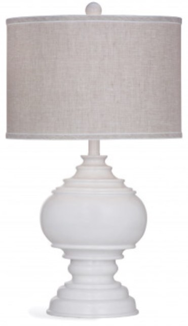 Kuna Lamp in white with linen shade