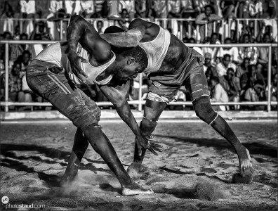 Nuba wrestlers, Khartoum, Sudan