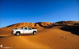 Off road cars in Empty Quarter, Rub al Khali Desert, Oman