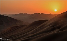Sunset in Empty Quarter, Rub al Khali Desert, Oman