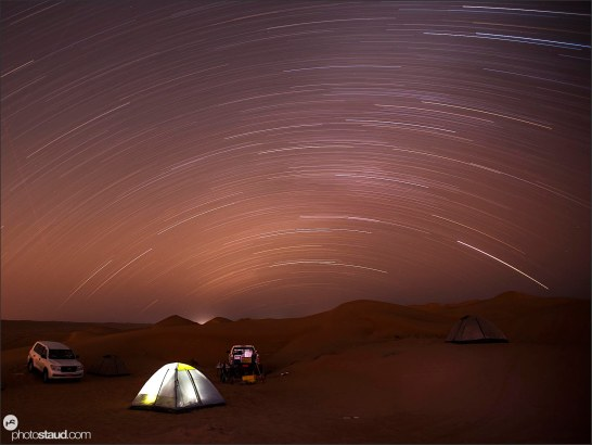 Stars above Wahiba Sands, Al Sharqiya, Oman