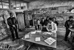 Village school in in Halidzor, Armenia