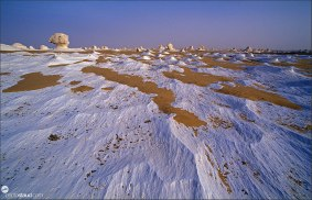 Fantastic landscape of the White Desert, Egypt