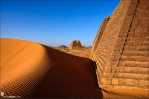 Meroe Pyramids in the Nubian Desert, Sudan