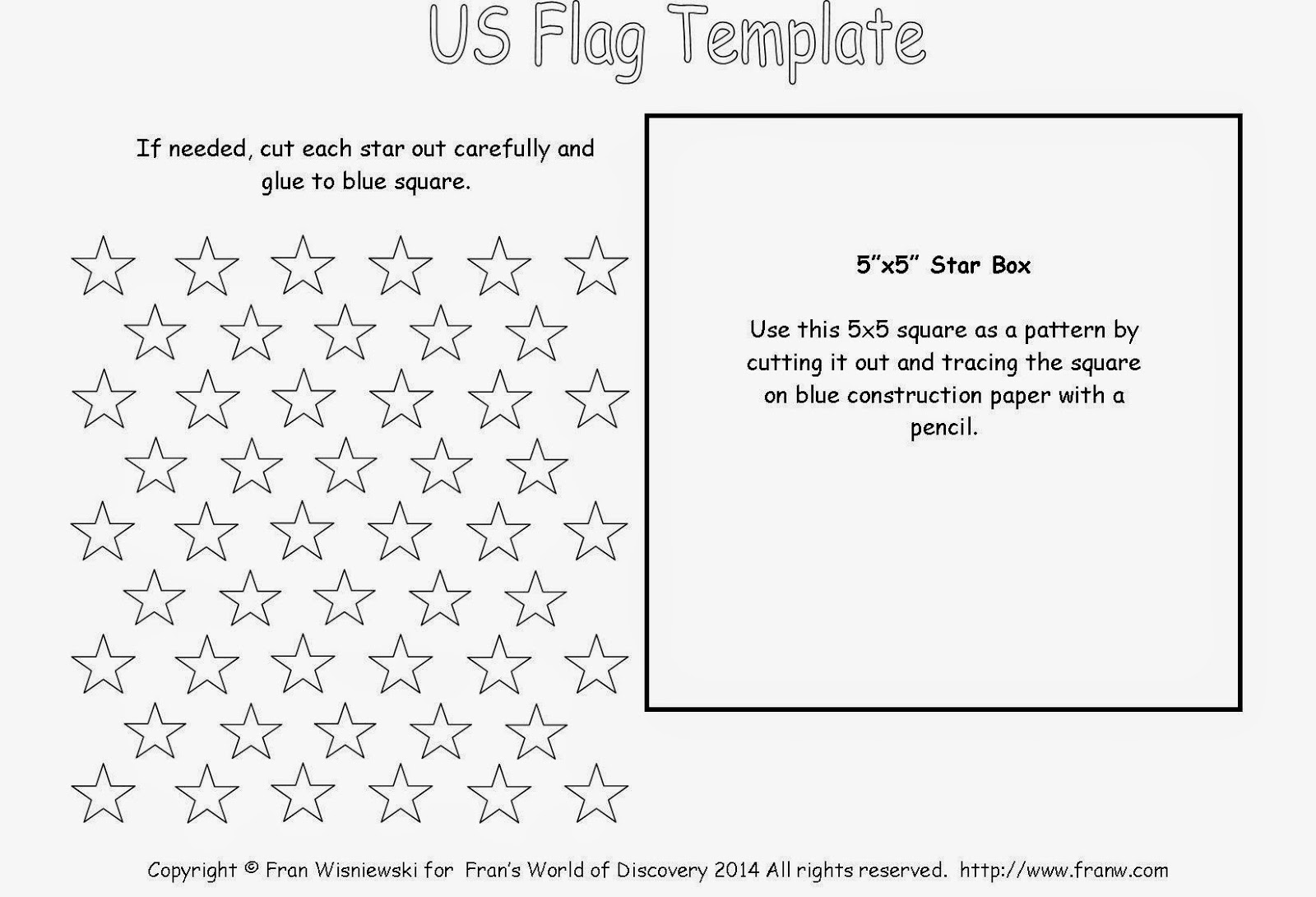 United States Flag Franw