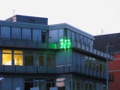 "lichtskulptur /// light sculpture ""vip"" | 2007, hohenzollernstraße, hannover"
