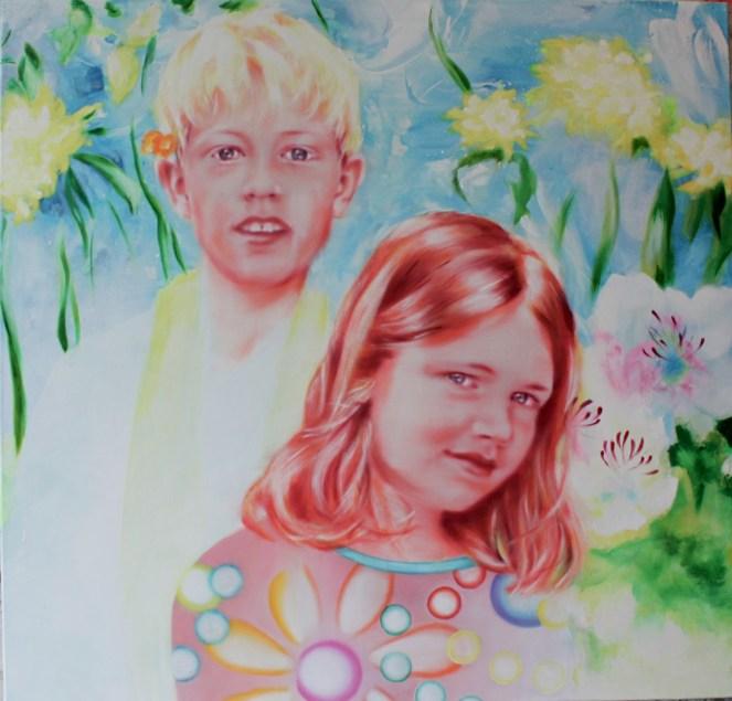 Emma-Lou und Fynn 115 x 120 cm 2015