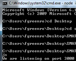 If everything has worked so far, the terminal should display this text.