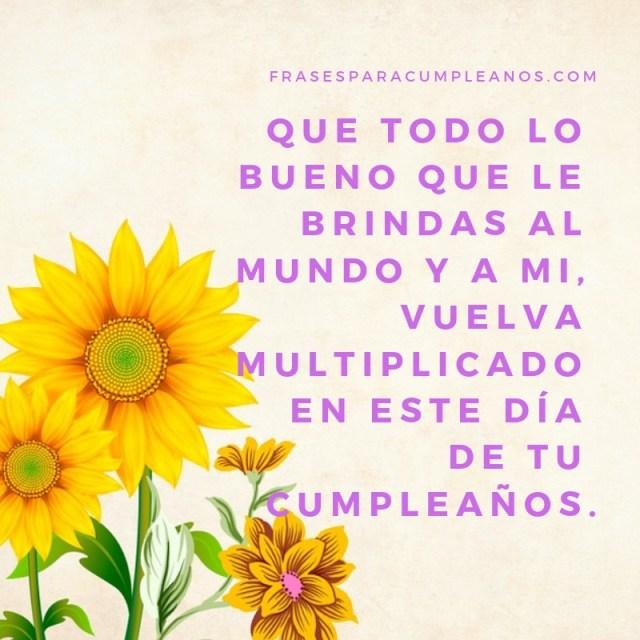 imágenes de feliz cumpleaños con flores amarillas