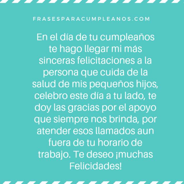 Tarjetas de Felicitaciones de cumpleaños para pediatra