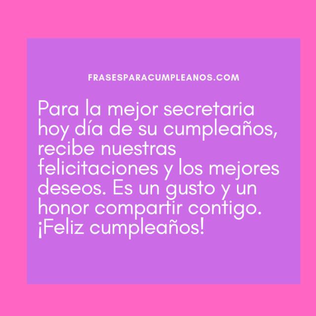 Tarjetas de Felicitaciones de cumpleaños para secretaria