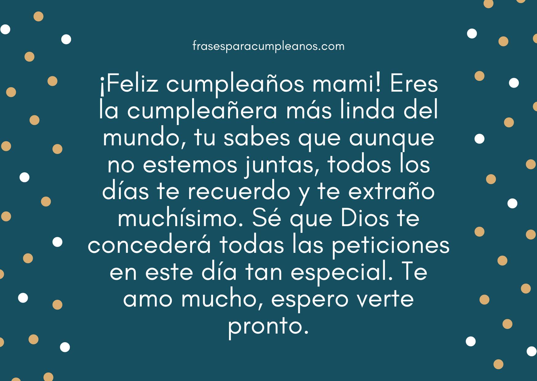 Felicitaciones de cumpleaños para una madre ausente – FrasesCumpleaños