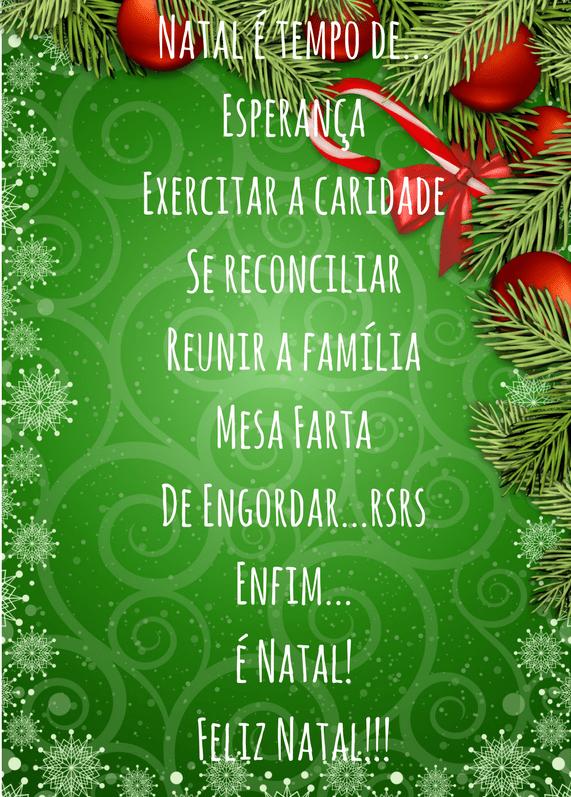 Frases de natal – Natal é tempo de…