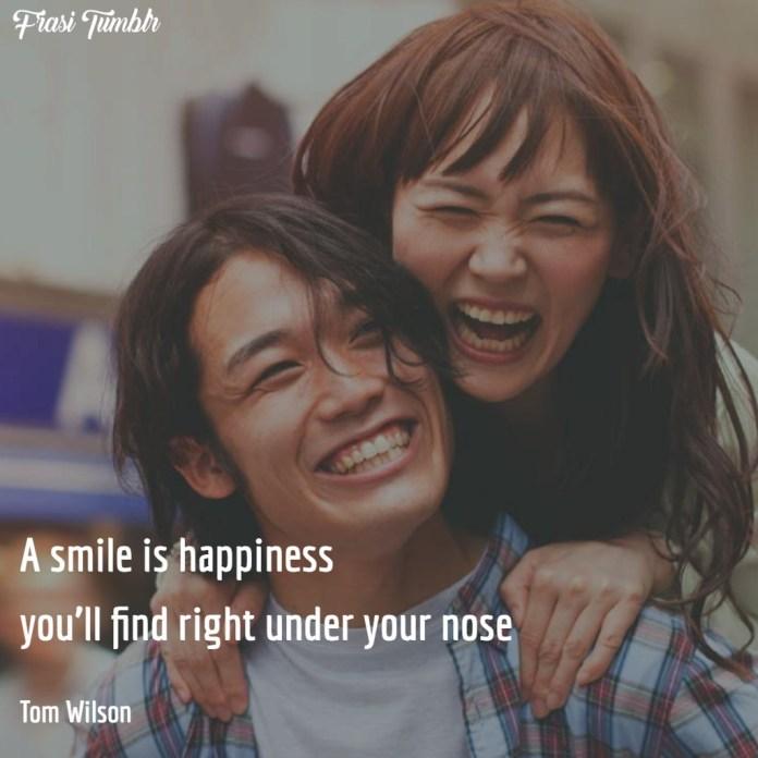 frasi-sorriso-inglese-felicità-naso
