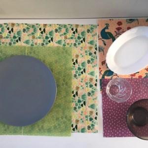 Envoltorio de algodón orgánico reutilizable para alimentos- sin plástico