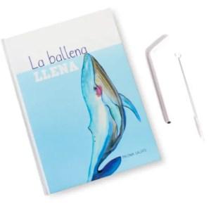 """Libro """"La ballena llena"""" + pajita infantil reutilizable y cepillo de regalo"""