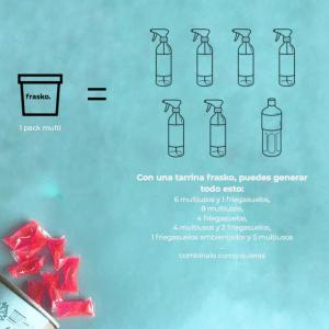 Pack multi cápsulas hidrosolubles multisusos friegasuelos (8x750ml) (4x1litro)