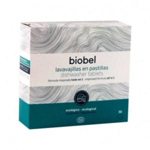 Lavavajillas en pastillas con ingredientes de origen natural BIOBEL