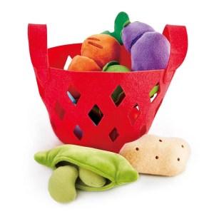 Juguete sostenible: Cesta de verduras blanditas HAPE