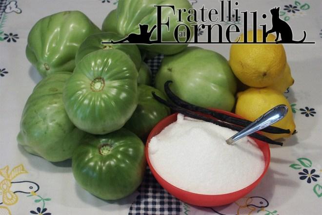 Confettura di pomodori verdi ingredienti