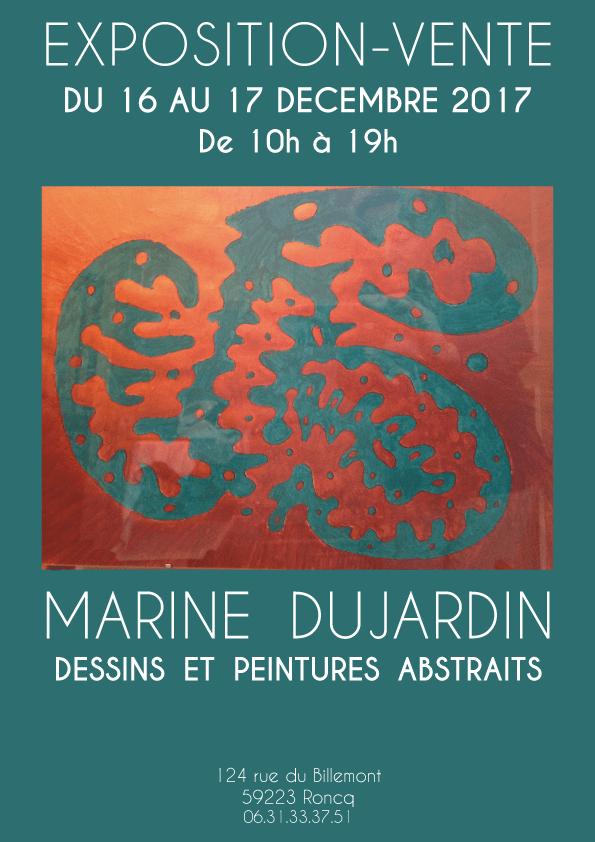 Exposition vente de tableaux et dessins d'une participante