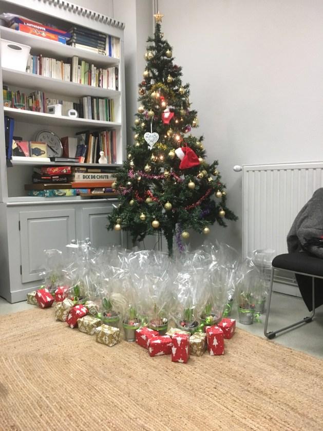Goûter de Noël festif chez fraternative