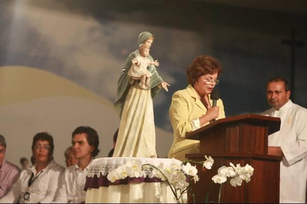 Dilma em missa de Dom Fernando Figueiredo