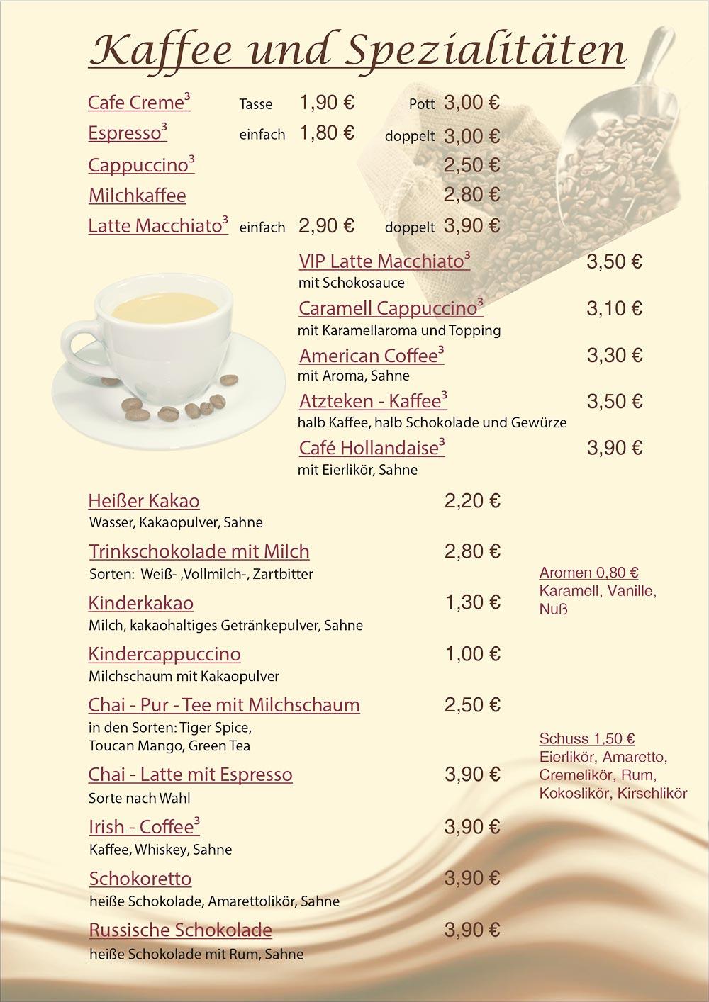 Kaffee & Spezialitäten