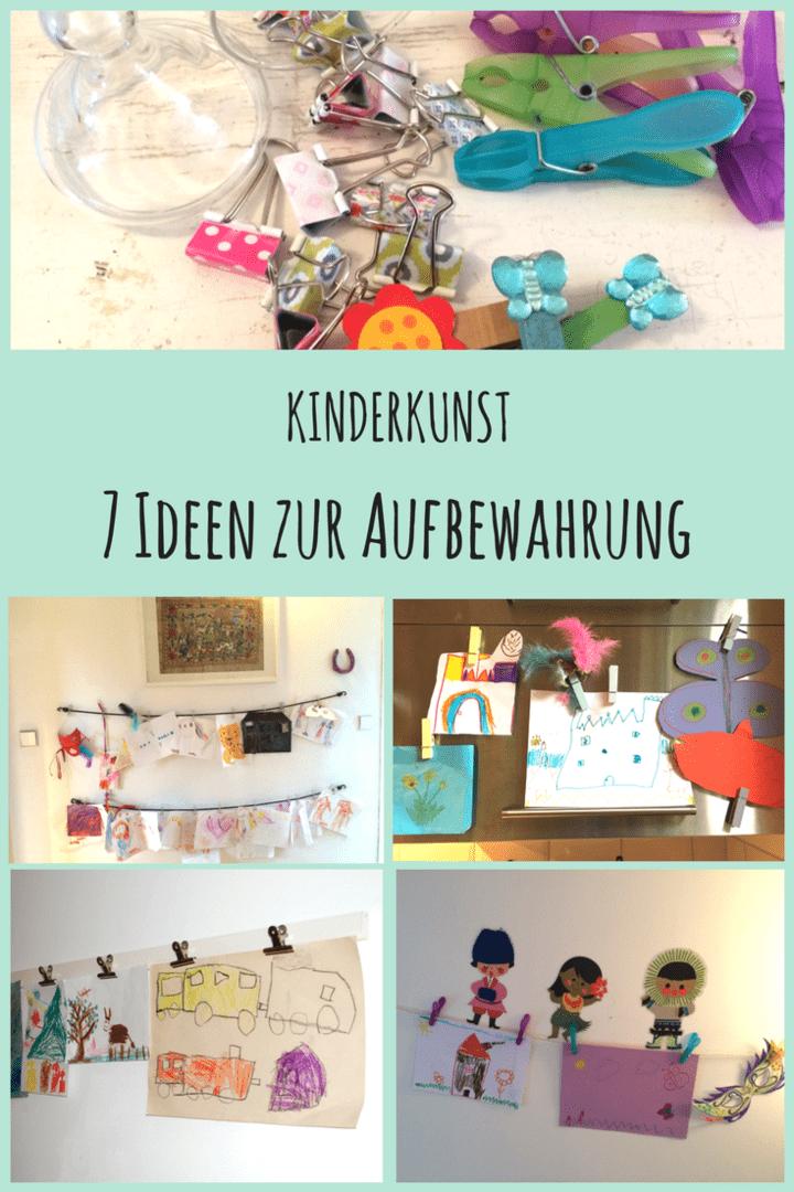 7 kreative ideen zur aufbewahrung von kinderkunst. Black Bedroom Furniture Sets. Home Design Ideas