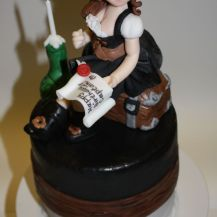 Fertige Piratinnen-Torte