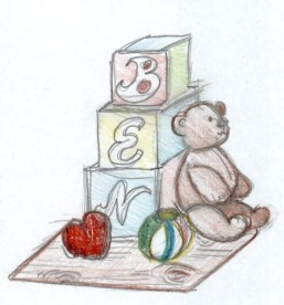 Skizze Torte Spielwürfel