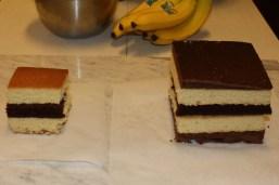 Torten quadratisch klein und mittelgroß Schichten