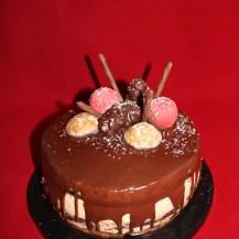 Weihnachtstorte - Brownie und Lebkuchenmousse