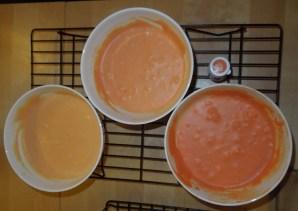 ganache-orange-drei farbtöne