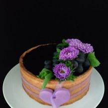 Cheesecake mit Heidelbeerfruchtspiegel