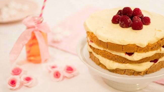 Himbeer Torte mit Buttercreme
