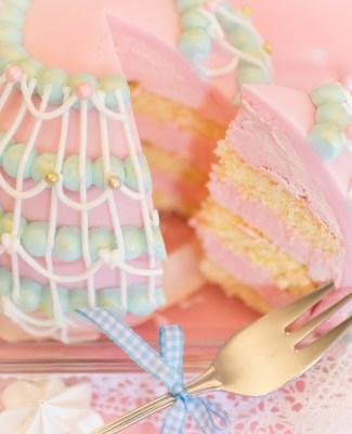 Kuchen rosa icing 1
