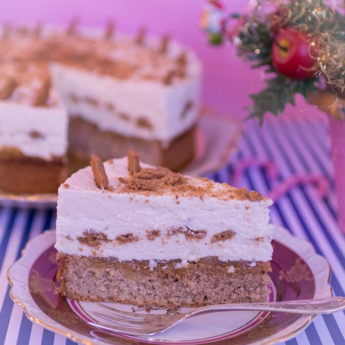 Weihnachtstorte, Spekulatius Bratapfel Torte, weihnachtliche Torte, Weihnachtsdessert