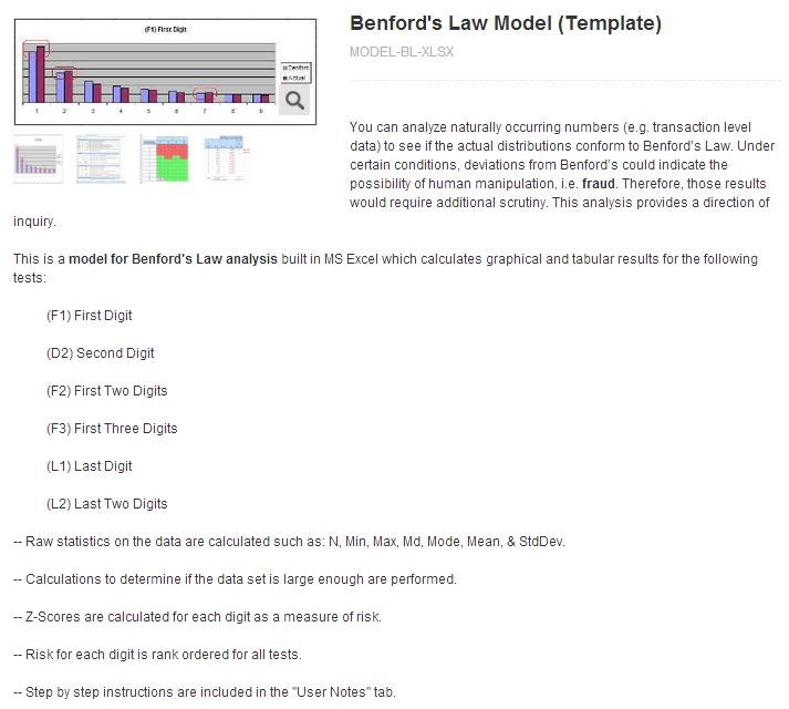 Product - Benford's Law Model