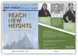 Anti-Fraud Resource Guide (Special Edition 2015) with shadow