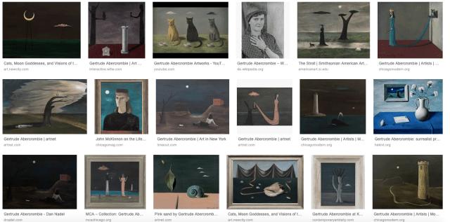 Google-Ergebnisse Gertrude Abercrombie