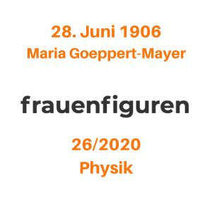 frauenfiguren maria goeppert-mayer