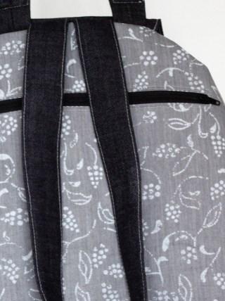 Rucksack nähen Reissverschluss hinten