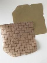 Upcycling Briefumschlag ausgeschnitten Frau Fadegrad