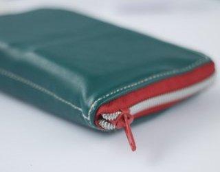 Eine Grete-Geldbörse aus Leder nähen