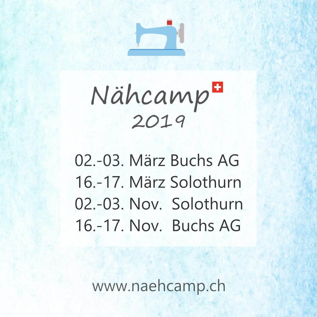 Nähcamp Schweiz Daten 2019
