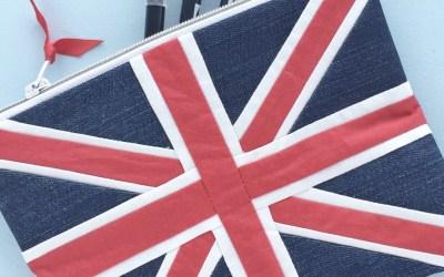 Der Union Jack als Patchwork Reissverschlusstäschchen