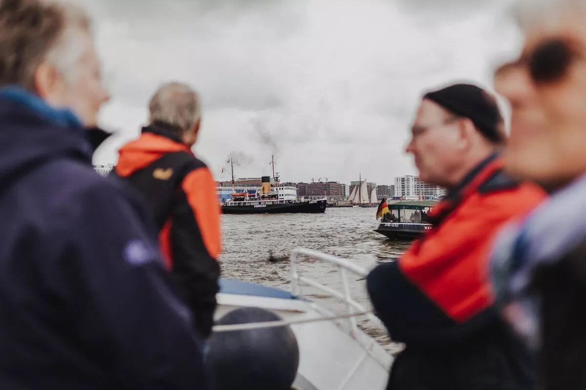 Ausblick auf den Dampfeisbrecher Stettin von der Elbe1 fotografiert beim Elbfest 2018